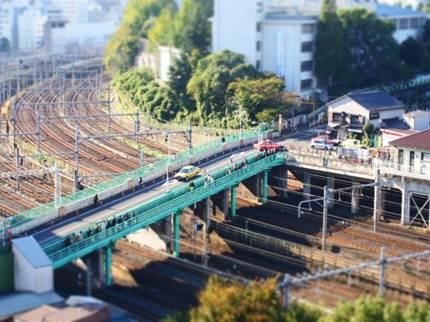 山手線の線路の写真