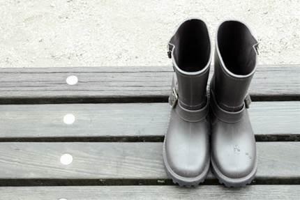 長靴のある景色