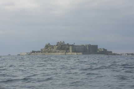 軍艦島の全体写真
