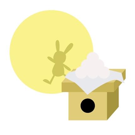 お月見とウサギ