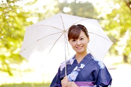 日傘の和服美人