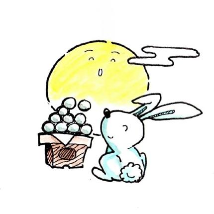 月とウサギと月見団子