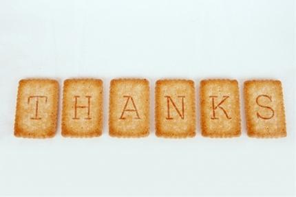 感謝のクッキー